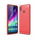 Чехол-накладка Carbon Fibre для Huawei Honor Note 10 (красный)