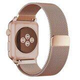 Миланский сетчатый браслет Luxury для Apple Watch 44 и 42мм (розовое золото)