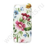 Пластиковый TPU чехол Beautiful Flowers для iPod Touch 5