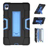 Гибридный TPU чехол для Huawei MediaPad M6 8.4 (черный + голубой)