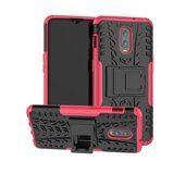 Чехол Hybrid Armor для OnePlus 7 (черный + розовый)