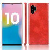 Кожаная накладка-чехол для Samsung Galaxy Note 10+ (Plus) (красный)