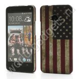 Пластиковый чехол Retro United States American Flag для HTC One M7