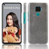 Кожаная накладка-чехол для Huawei nova 5i Pro (серый)