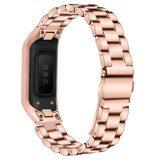 Стальной браслет для для Samsung Galaxy Fit E SM-R375 (розовое золото)