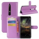 Чехол с визитницей для Nokia 6.1 (фиолетовый)