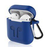 Силиконовый чехол для Apple AirPods (Shock Proof - синий)