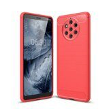 Чехол-накладка Carbon Fibre для Nokia 9 PureView (красный)