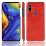Чехол Litchi Texture для Xiaomi Mi Mix 3 (красный)