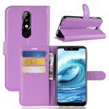 Чехол с визитницей для Nokia 5.1 Plus / Nokia X5 (фиолетовый)