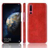Кожаная накладка-чехол Litchi Texture для Huawei P30 (красный)