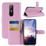 Чехол с визитницей для Nokia 6.1 Plus (розовый)