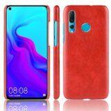 Кожаная накладка-чехол Litchi Texture для Huawei nova 4 (красный)