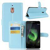 Чехол с визитницей для Nokia 2.1 (голубой)