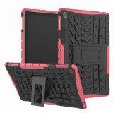 Чехол Hybrid Armor для Huawei MediaPad M5 lite 10 (черный + розовый)