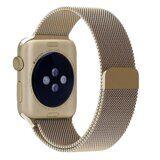 Миланский сетчатый браслет Luxury для Apple Watch 44 и 42мм (золото)