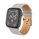 Кожаный ремешок Hoco для Apple Watch 44 и 42мм (серый)