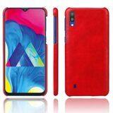 Кожаная накладка-чехол Litchi Texture для Samsung Galaxy M10 (красный)