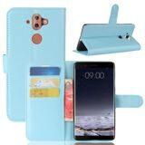 Чехол с визитницей для Nokia 8 Sirocco (голубой)