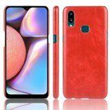 Кожаная накладка-чехол для Samsung Galaxy A10s (красный)