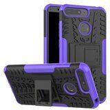 Чехол Hybrid Armor для Honor 7A Pro (AUM-L29) (черный + фиолетовый)