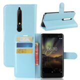 Чехол с визитницей для Nokia 6.1 (голубой)