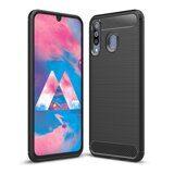 Чехол-накладка Carbon Fibre для Samsung Galaxy A40s (черный)