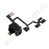 Модуль Audio Jack Ribbon Flex Cable для iPhone 4 (черный)