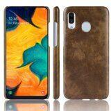 Кожаная накладка-чехол для Samsung Galaxy A20e (коричневый)