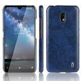 Кожаная накладка-чехол для Nokia 2.2 (синий)