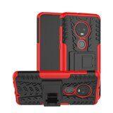 Чехол Hybrid Armor для Motorola Moto G7 (черный + красный)