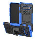 Чехол Hybrid Armor для Samsung Galaxy S10 (черный + голубой)