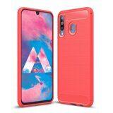 Чехол-накладка Carbon Fibre для Samsung Galaxy A40s (красный)