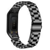 Стальной браслет для для Samsung Galaxy Fit E SM-R375 (черный)