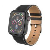 Кожаный ремешок Hoco для Apple Watch 44 и 42мм (черный)