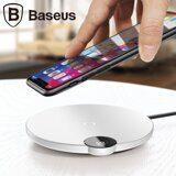 Беспроводное зарядное устройство Baseus Digtal LED Display (белый)