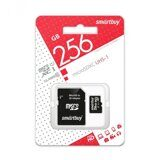 Карта памяти Micro SD 256Gb Smart Buy Class 10 c адаптером SD