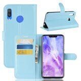 Чехол с визитницей для Huawei Nova 3i / P Smart+ (Plus) (голубой)