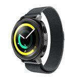 Миланский сетчатый браслет Luxury для Samsung Watch Active2 44мм. (черный)