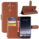 Чехол с визитницей для Nokia 8 Sirocco (коричневый)