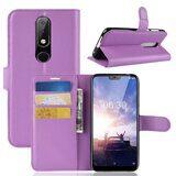 Чехол с визитницей для Nokia 6.1 Plus (фиолетовый)