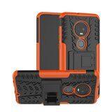 Чехол Hybrid Armor для Motorola Moto G7 (черный + оранжевый)