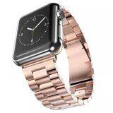 Стальной браслет Solid Stainless для Apple Watch 44 и 42мм (розовое золото)