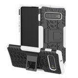 Чехол Hybrid Armor для Samsung Galaxy S10 (черный + белый)
