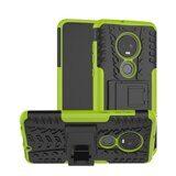 Чехол Hybrid Armor для Motorola Moto G7 (черный + зеленый)