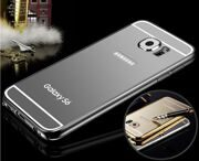 Чехол Luxury Aluminum для Samsung Galaxy S6 Edge (черный)