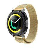 Миланский сетчатый браслет Luxury для Samsung Watch Active2 44мм. (золотой)