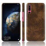 Кожаная накладка-чехол Litchi Texture для Huawei P30 (коричневый)