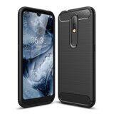 Чехол-накладка Carbon Fibre для Nokia 4.2 (черный)