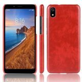 Кожаная накладка-чехол для Xiaomi Redmi 7A (красный)